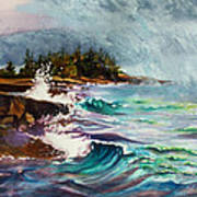 September Storm Lake Superior Art Print