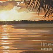 September Sunset 7 32pm Haulover Park Art Print