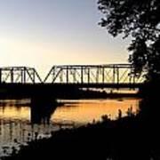 September Sunset On The River Art Print