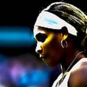 Serena Williams Focus Art Print