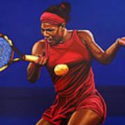 Serena Williams Painting Art Print by Paul Meijering