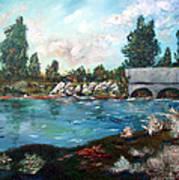 Serene River Art Print
