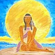 Sereneearth Peaceful Moon Art Print