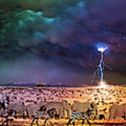 Serengeti Storm Art Print