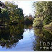 Serenity Pond Reflection At Limehouse Ontario Art Print