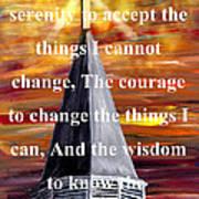 Serenity Prayer 1 Art Print