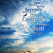 Serenity Prayer 3 - By Sharon Cummings Art Print