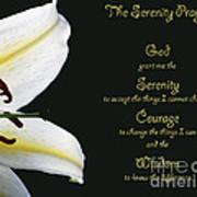 Serenity Prayer 3 Art Print