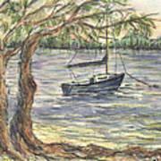 Serenity Sailboat Art Print