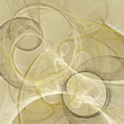 Series Abstract Art In Earth Tones 4 Art Print