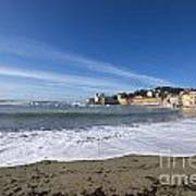 Sestri Levante With Waves Art Print