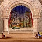 Set Design For Hamlet By William Art Print