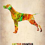 Setter Pointer Poster Art Print by Naxart Studio