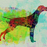 Setter Pointer Watercolor Print by Naxart Studio