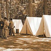 Settin Up Camp Art Print