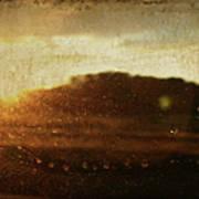 Setting Sun Abstract Art Print
