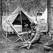 Setting Up Camp Art Print