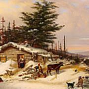 Settler's Log House Art Print