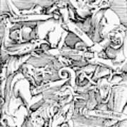 Seven Deadly Sins, 1511 Art Print