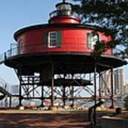 Seven Foot Knoll Lighthouse - Baltimore Harbor Art Print