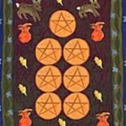 Seven Of Pentacles Art Print