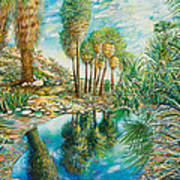 Seven Palms Oasis Art Print