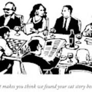 Seven People Are Seen Sitting At A Table Art Print