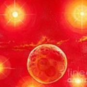 Seven Suns Art Print