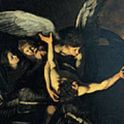 Seven Works Of Mercy Art Print by Caravaggio