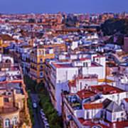 Seville Cityscape Art Print