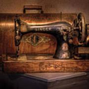 Sewing Machine  - Singer  Print by Mike Savad
