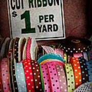 Sewing - Ribbon By The Yard Art Print by Mike Savad