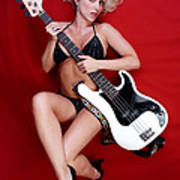 Sexy Guitar Art Print