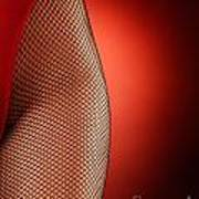 Sexy Woman Hips In Fishnet  Art Print