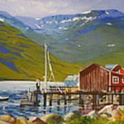 Seydisfjordur Wharf Art Print