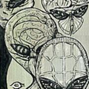 Shades Of Grays Three Art Print