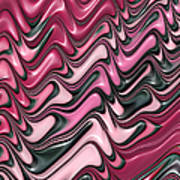 Shades Of Pink And Red Decorative Design Art Print by Matthias Hauser
