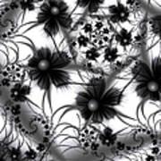 Shadow Flowers Art Print
