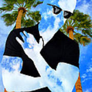 Shadow Man Palm Springs Art Print