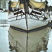 Shadow Of Boat Art Print