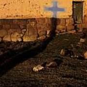 Shadow Of Cross Peru Art Print
