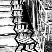 Shadow Of Handrail Art Print