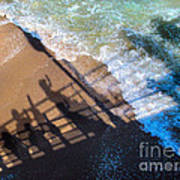 Shadows Day At The Beach Art Print