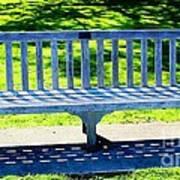 Shadows Of A Park Bench Art Print