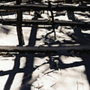 Shadows On Table Mountain Art Print