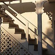 Shadowy Lambertville Stairwell Art Print by Anna Lisa Yoder