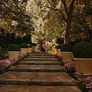 Shady Garden Walk Art Print by Cindy Rubin