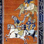 Shahnameh Ferdowsi Rostam And Sohrab Photos Of Persian Antique Rugs Kilims Carpets  Art Print