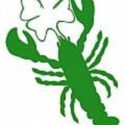Shamrock Lobster With Feelers 458 20120114 Art Print