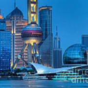 Shanghai Pudong Art Print by Fototrav Print